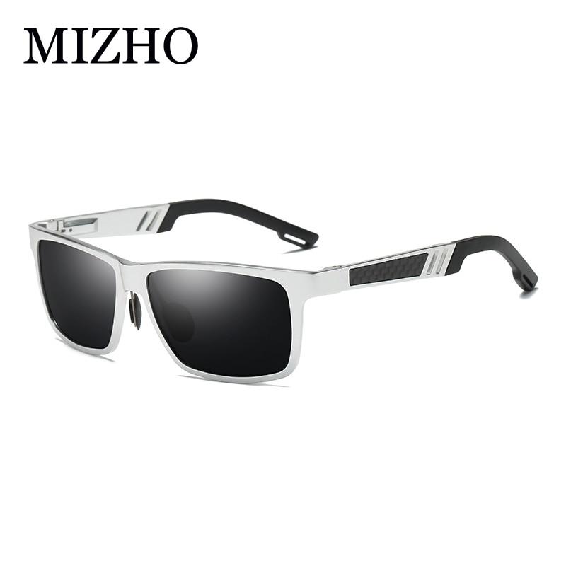 MIZHO vysoce kvalitní sluneční brýle muži 2019 antireflexní barevné noční vidění polarizované sluneční brýle pro ženy náměstí žluté vinobraní