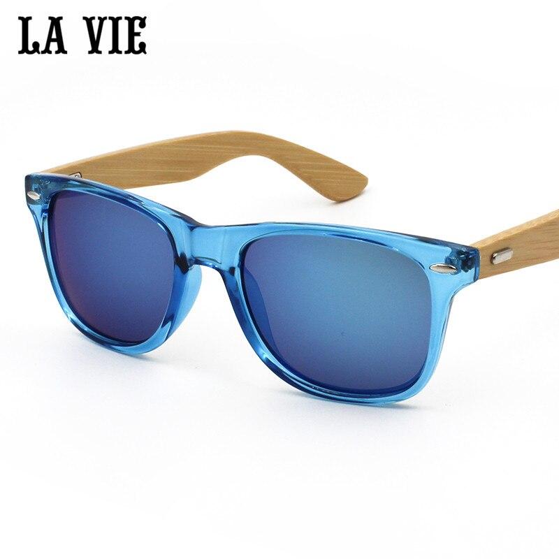 La vie merek retro bambu kayu sunglasses pria wanita uv400 lensa - Aksesori pakaian - Foto 4