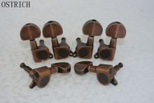 Ostrlch Vintage Style Bronze Guitar Tuning Pegs Tuners Machine Head  3L+3R Free Shipping Wholesales