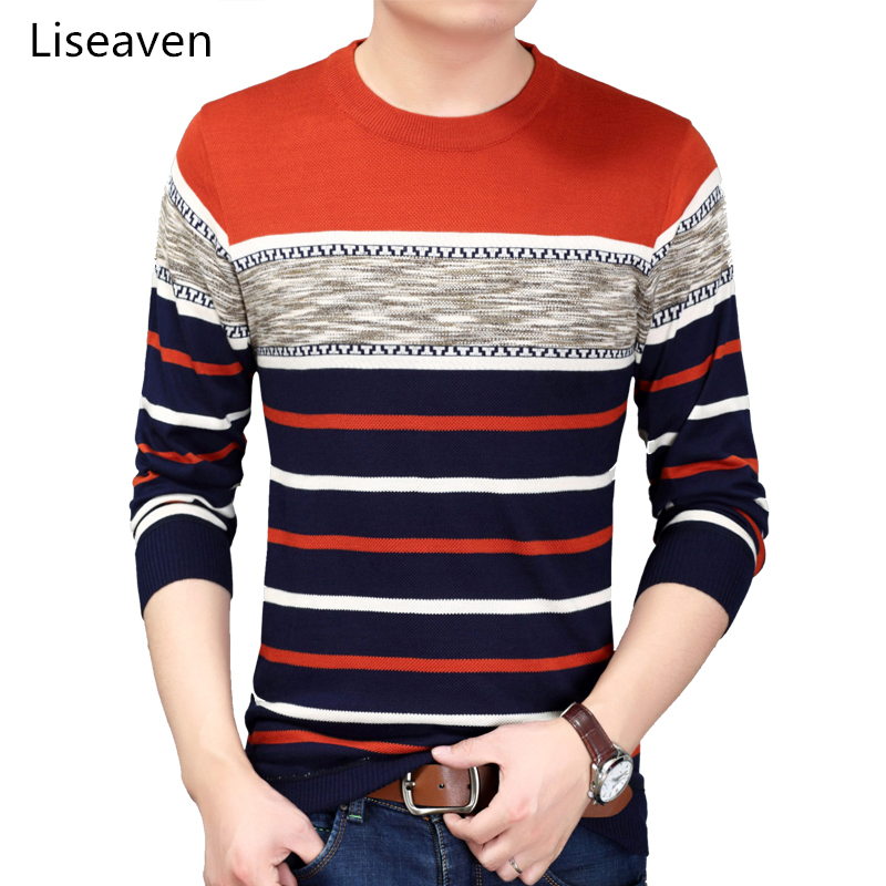 Liseaven Men's Sweaters O-Neck Pullovers Men Winter Clothing Pullover Sweater Men Tops