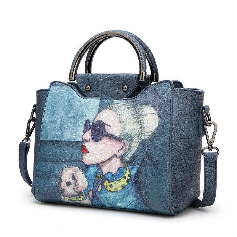 Newest Fashion Pattern Women Bag PU Leather Handbag Casual Women Shoulder Bag Female Messenger cross bag High Quality