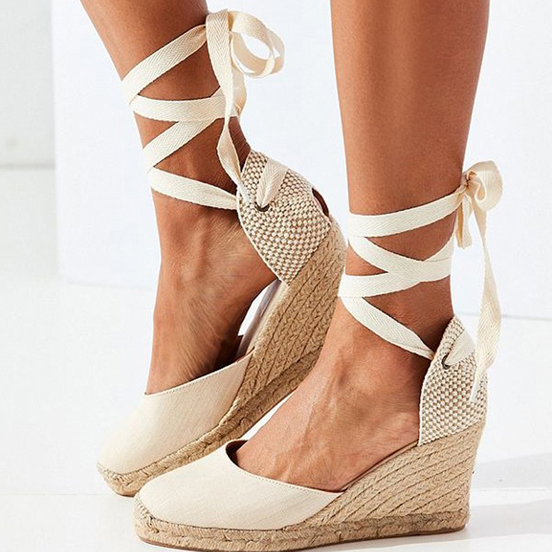 Women Sandals Retro Wedges Shoes Woman Summer Platform Sandals Lace Up Chunky Heigh Heels Sandalias Mujer Wedge Heel Shoes LadyWomen Sandals Retro Wedges Shoes Woman Summer Platform Sandals Lace Up Chunky Heigh Heels Sandalias Mujer Wedge Heel Shoes Lady