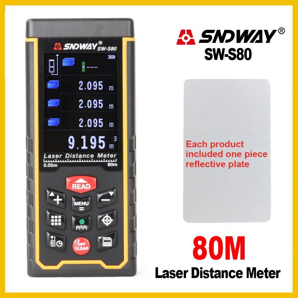 SNDWAY Camera USB Recharge Portable Colorful Screen Digital Laser Distance Meter Range Finder Rangefinder SW S80