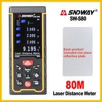 SNDWAY Camera USB Recharge Portable Colorful Screen Digital Laser Distance Meter Range Finder Rangefinder SW S80 /S120