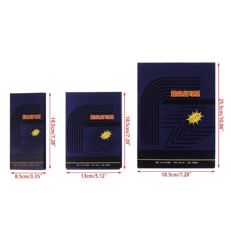 Купить с кэшбэком 50 Sheets Double Sided Carbon Copier Stencil Transfer Paper Stationery Supplies 48K
