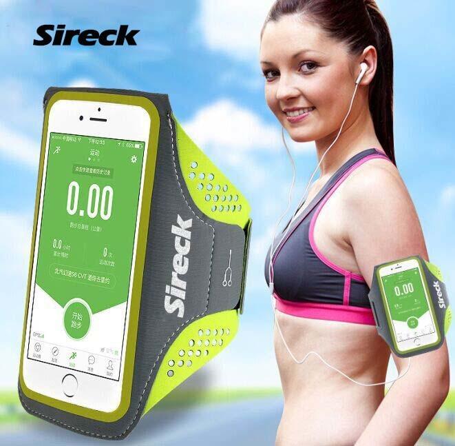 """Sireck 2018 გაშვებული ჩანთები კაცები ქალები 5.0 """"5.8"""" სენსორული მობილური ტელეფონის იარაღის პაკეტი სპორტული ინვენტარი სირბილი Run ჩანთა აქსესუარები"""