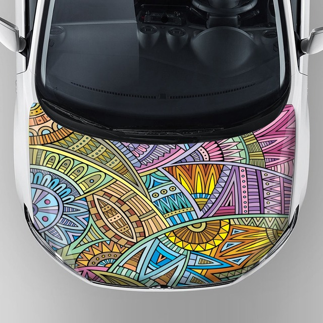 Scratch proof family car stickers graphic car hood bonnet wrap vinyl waterproof removable adhesive decal sticker