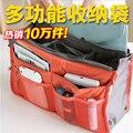 10 piezas/paquete señoras de las Mujeres Esteticista bolsas de Cosméticos para maquillaje maquillaje Neceser organizador del bolso del almacenaje del Recorrido de acabado maleta