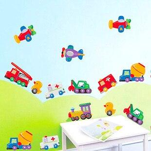 50 70cm Cartoon Cars Vehicles Trucks For Kinds Children Boy Decal