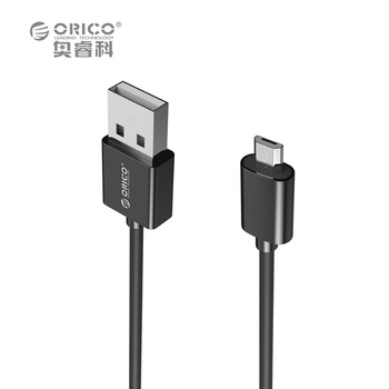 ORICO ADC Micro USB 2.0 Charging Data Cable Length 0.5m/0.8m/1.0m/1.5m/2.0m for Smartphones - Black / White