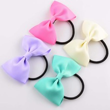 150pcs/lot 3″grosgrain ribbon bowsheadband and bows wholesale elastic headbands hair rope