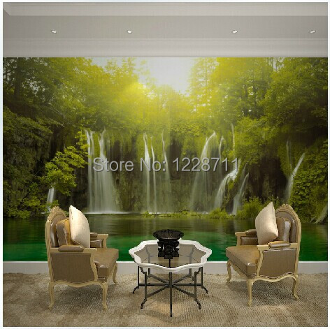 Waterfall 3d wallpapers nature 3d mural waterproof for 3d wallpaper waterproof