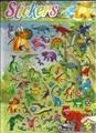 Бесплатная доставка Большой 16*28 см динозавров диких животных 3D Пухлые Пузырь Наклейки Мультфильм Пены DIY для Детей игрушки на Записках рюкзак