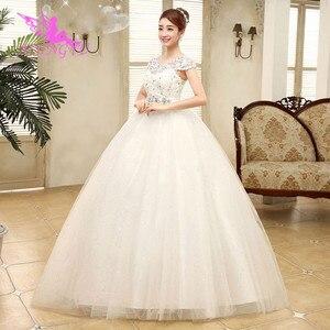 Image 5 - Aijingyu 2021 fotos reais nova venda quente barato vestido de baile rendas até voltar formal vestidos de noiva vestido de casamento wk321