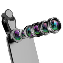 Phone Camera Lens,6 In 1 Cell Phone Lens Kit For Iphone And Android, Kaleidoscope Wide Angle+Macro Cpl Fisheye Telephoto Zoom(China)