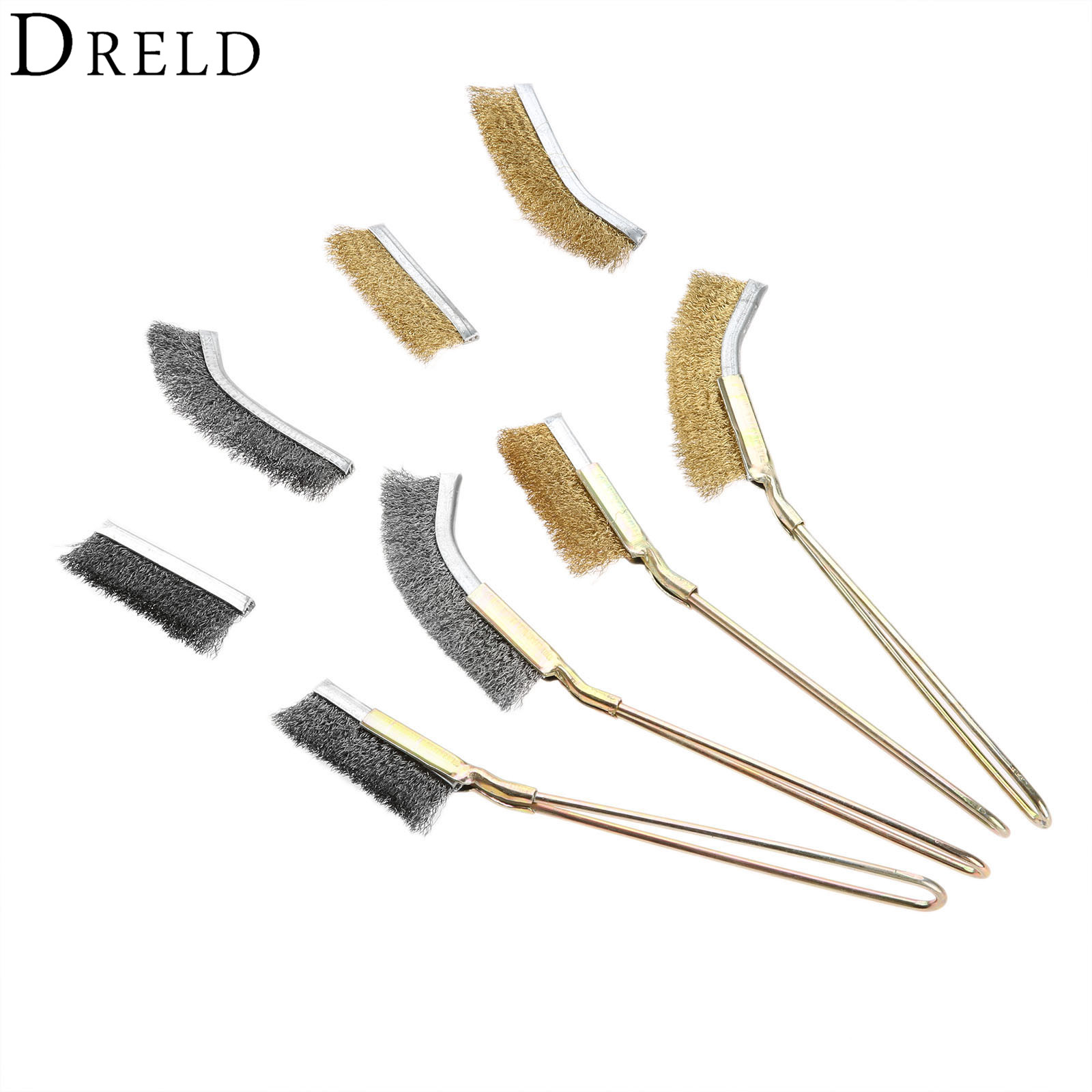 DRELD Steel Copper Wire Brush Cup Polishing Brush Wheel Dremel Accessories Rotary Cleaning Brushes For Metal Polish