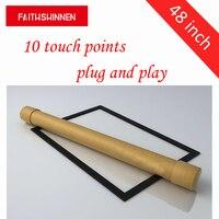 48 дюймов 10 баллов Multitouch usb инфракрасный ИК Сенсорный экран Рамки/Панель для рекламы киоск сенсорный Настольный