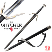 Replica Rivia's Blade EuropeanMedieval Sword Stainless Steel For Video Game The witcher3:Wild Hunt No Sharp Brand New Supply
