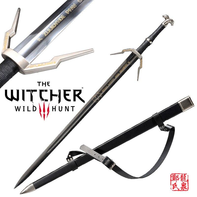 Réplica de la hoja de Rivia de la espada medieval europea de acero inoxidable para el videojuego witcher3: wild Hunt No Sharp nuevo suministro-in Espadas from Hogar y Mascotas    1