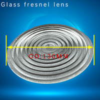 Diameter 130mm 1000W plano convex glass fresnel lens for lamp and LED stage light borosilicate material fresnel lens