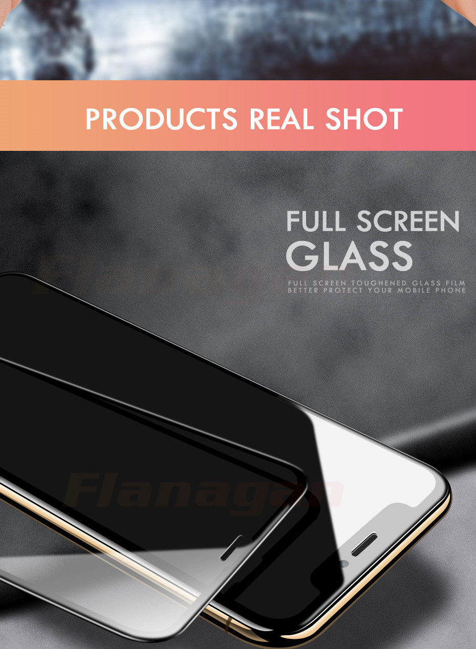 15D Protective Glass on the For iPhone 6 6s 7 8 plus XR X XS glass full cover iPhone Xs Max Screen Protector Tempered Glass 13
