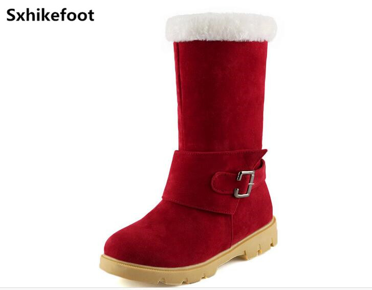 ФОТО Free Shipping  woman shoes Christmas must have 2017 new winter snow boots warm two wear non slip shoes