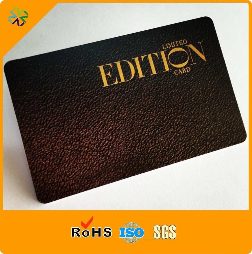 Cmyk Offset Printing Custom Plastic PVC Black Matte Business Card