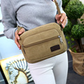 Contracted joker men and women's shoulder bag Preppy style more zippers messenger bag 100% cotton crossbody bag presh flap