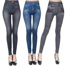 New 2018 Women Autumn Jeans Leggings Skinny Slim Thin High Elastic Waist Pencil Pants Black Denim Leggings For Women Plus Size