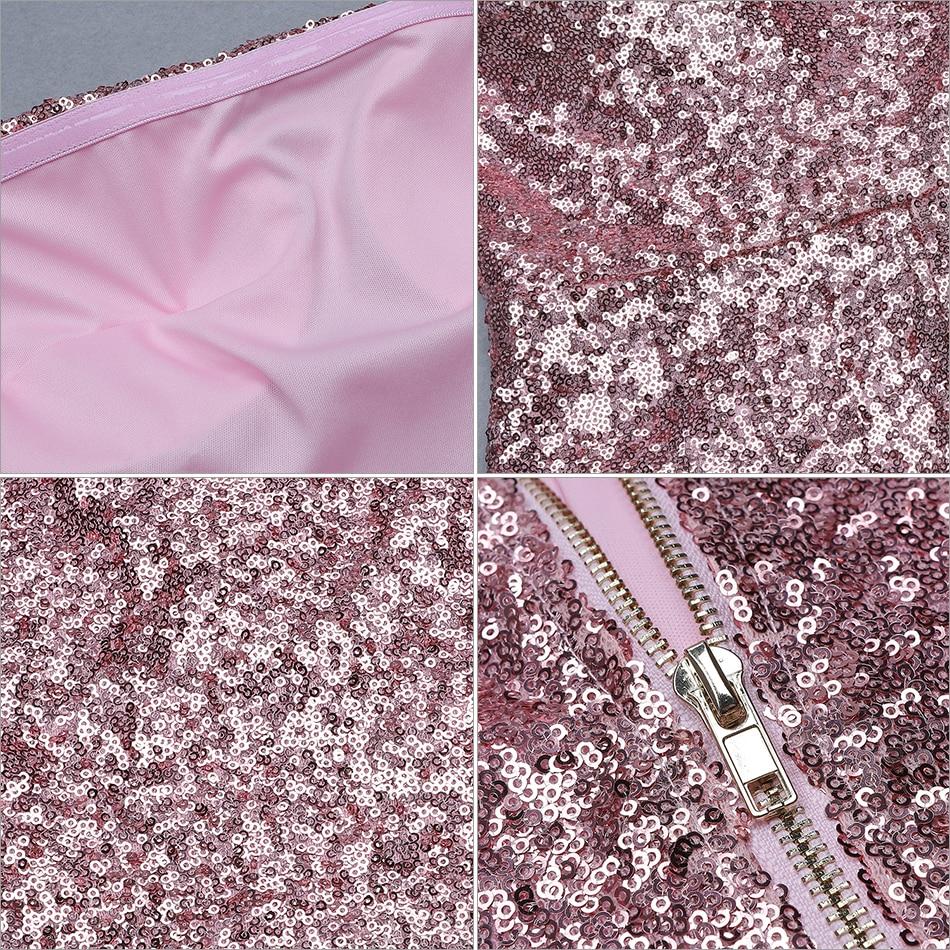 Club D'été Bretelles Pour Sexy Adyce Party Pink Sans Rose Sequin Celebrity 2019 Piste Femmes Nouvelle Salopette Body Court Élégant BwqFq4Aa