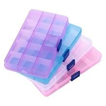 XINYAO 10/15 слотов регулируемый пластик коробка для хранения прозрачный прямоугольник случае организатор коробки небольшой ручной упаковк