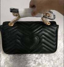 Classic Women Top Quality Leather handbag branded designer flap Shoulder handbag women black purses