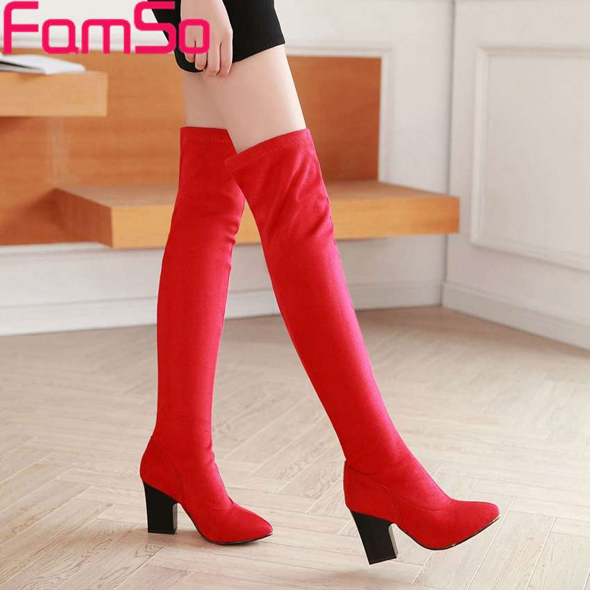 Plus Size 34 43 2016 new Sexy font b Women b font Boots Thigh High Boots