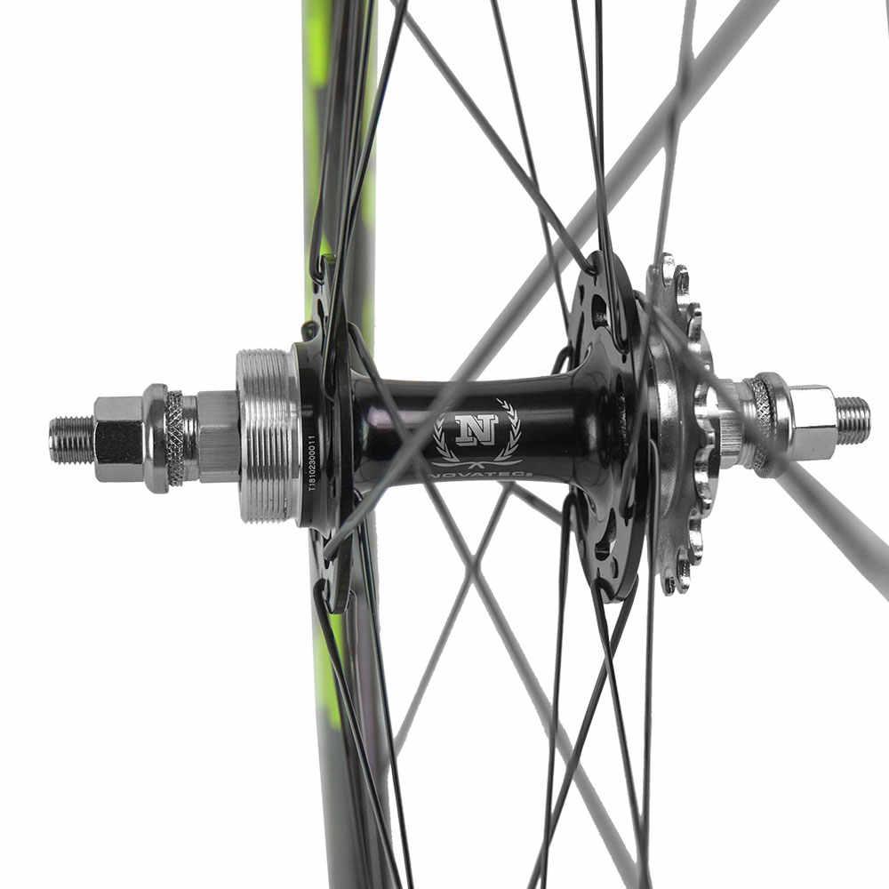 700C piste vélo carbone roues 50mm roues à engrenages fixes pneu Superteam Novatec roues à engrenages fixes