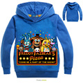 Autumn Children Five Nights at Freddys Costumes Boys Bear Freddys Hoodies Outwears Kids Sports Cartoon Jackets Warm Sweatshirts