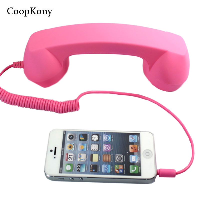 CoopKony 3.5mm Audio AUX Volume Control  Earphone Phone Handset Speaker Microphone Phone Call Receiver For iPhone4S 5 6 Android wireless retro telephone handset and wire radiation proof handset receivers headphones for a mobile phone with comfortable call
