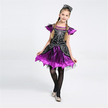 New Arrival Girls Spider Queen Costume Fancy Kids Halloween Cosplay Dress