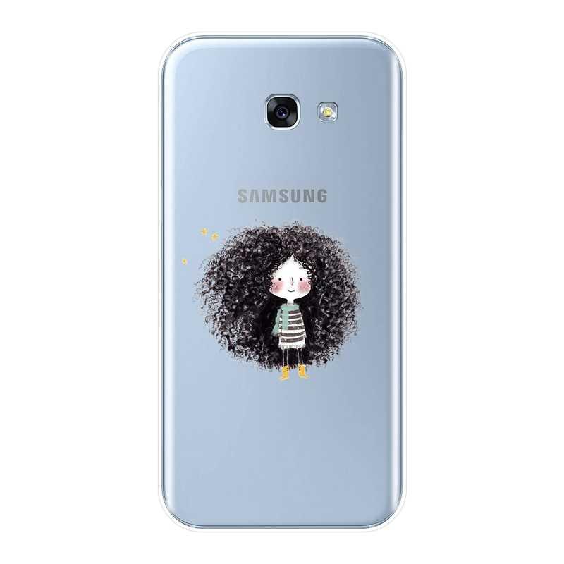 Силиконовый чехол для телефона для samsung Galaxy A3 A5 2016 2017 A6 A7 A8 2018 с нарисованной девочкой, мягкий чехол для задней крышки для samsung A6 A8 плюс 2018