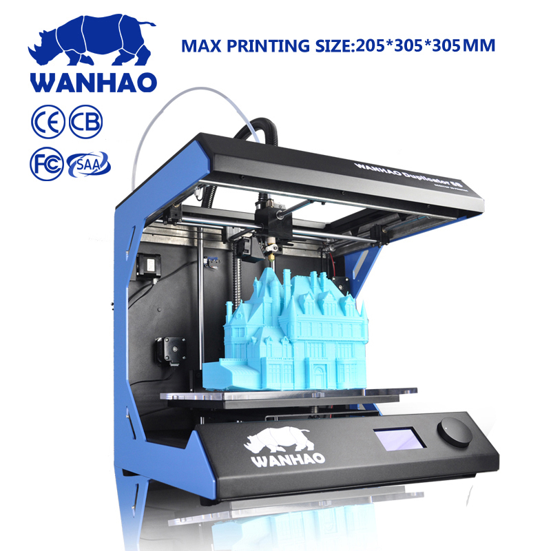 2018 China Supplier Wanhao D5S MiNi 3D Color laser Printer machine kit with PLA ABS filament cheap factory price high quality