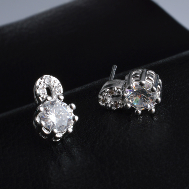 Jemmin Exquisite Blue Sapphire 925 Sterling Silver Earrings For Wedding Party Jewelry Women Stud Earring Engagement Accessory