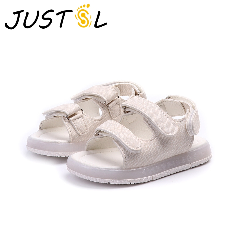 2018 Summer Kids Lights Fashion Sandals Girls Boys Solid Beach Shoes Chidlren Glowing Casual Sport Sandals Size 26-30