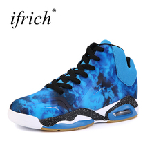 2017 New Trend Men's Basketball Shoes High Top Men Training Sneakers Brand Air Cushion Basketball Boots Male Cheap(China)