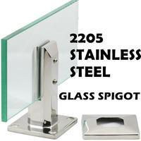 Square Balustrades Handrails 2205 Stainless Steel Glass Spigot Pool Fence Frameless Balustrade Spigots Clamp 20 01