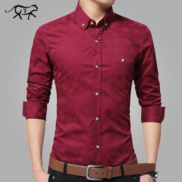 Весна Новый Мужской Рубашки Мужские Рубашки Платья мужская Мода Повседневная С Длинным Рукавом Тонкий Бизнес Формальный Рубашка camisa социальной masculina
