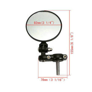 """Image 4 - Motorcycle Round 7/8"""" Handle Bar End Foldable Motorbike Rear View Side Mirrors Cafe Racer Mirrors"""