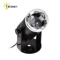 Auto Sound Activated LED Mini Crystal Rotating RGB LED Stage Lights For KTV Xmas Party Wedding