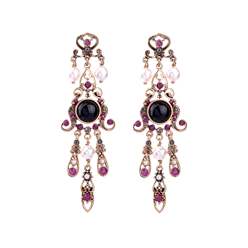 Buy 2017 New Fashion Vintage Long Dangle Earrings New Chinese Wind Ethnic