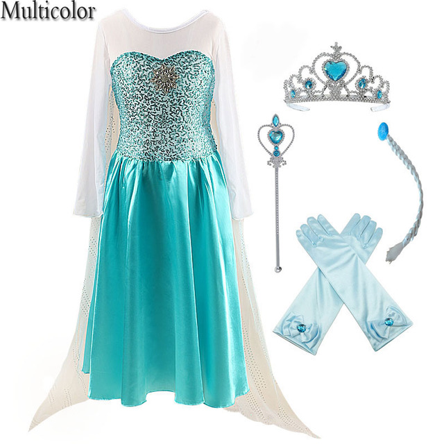100% authentic 9c1a4 dd091 2018 mode Benutzerdefinierte Anna Elsa Mädchen Kleider Prinzessin Kleid  Kinder Party Vestidos Baby Cosplay Hochzeit Kleidung