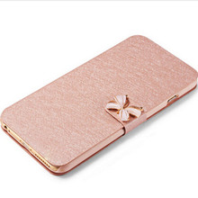 For Microsoft Nokia Lumia 625 Case Luxury Silk Flip Cover Case PU Leather Phone Bags For