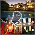 Good quality Multicolor/White Snow Moving LED Laser Light for Landscape House Outdoor Christmas Garden lawn spotlight EU/US plug